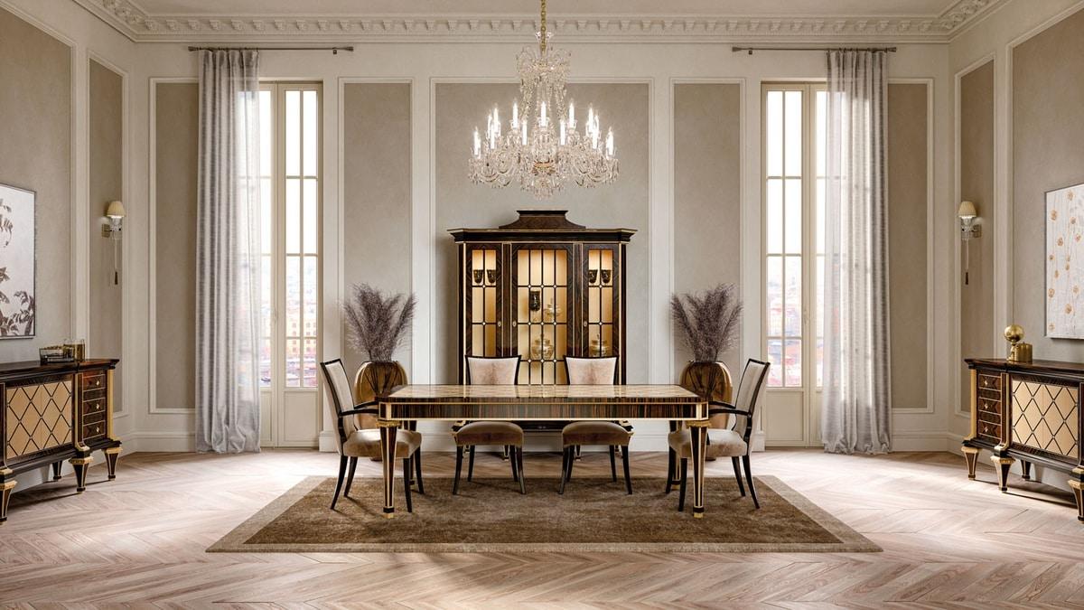 ART. 3438, Elegant velvet dining chair