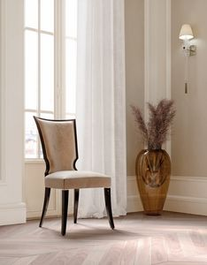 ART. 3438, Elegant velvet dining chair