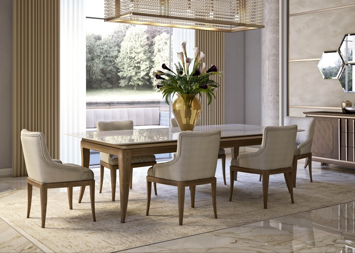 Art. 5070, Wooden dining chair, padded