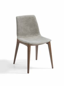 Bassano, Padded chair with ash base