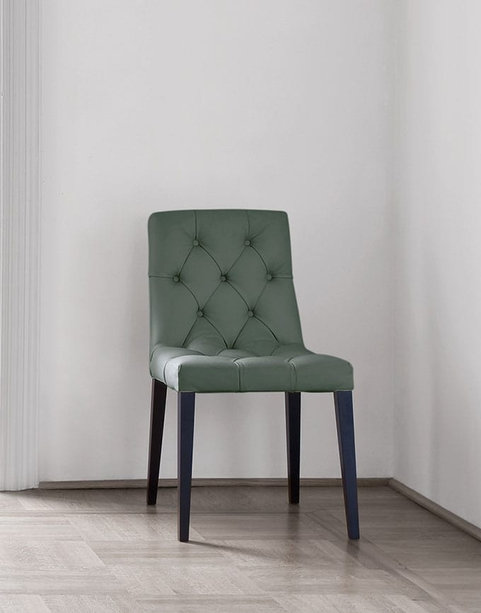 Bohémien chair, Dining chair, with capitonné