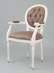 BS100A - Chair, Medallion chair with back