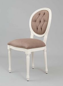 BS100S - Chair, Medallion chair with back