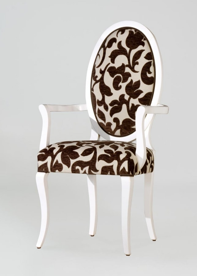 BS213A - Chair, Medallion chair with back