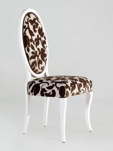 BS213S - Chair, Medallion chair with back