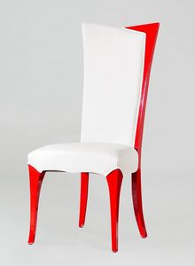 BS216S - Chair, Faux leather chair with high back