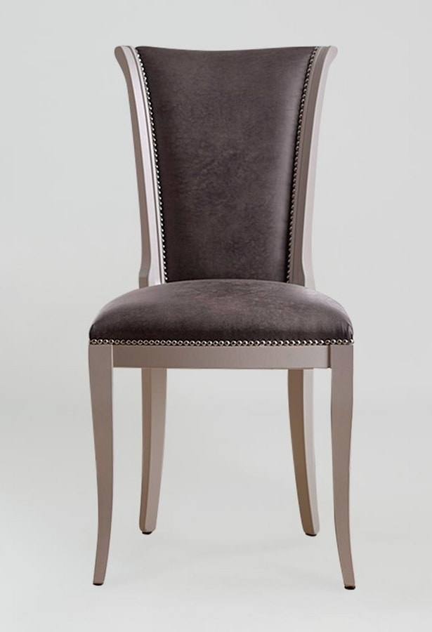 BS376S - Chair, Chair upholstered in eco-leather