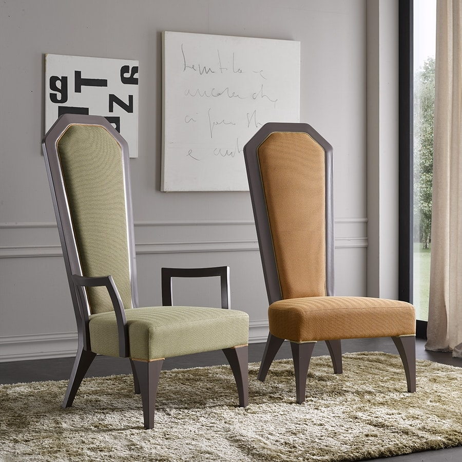 BS384A - Chair, Imperial chair with armrests