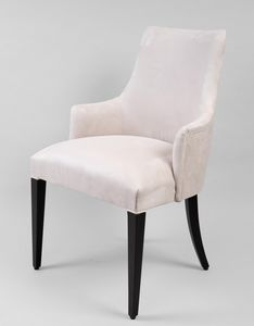 BS429A - Chair, Upholstered chair with beech structure