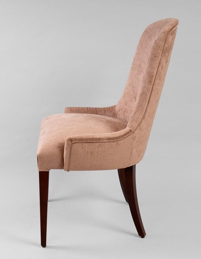 BS430S - Chair, Upholstered chair with high back