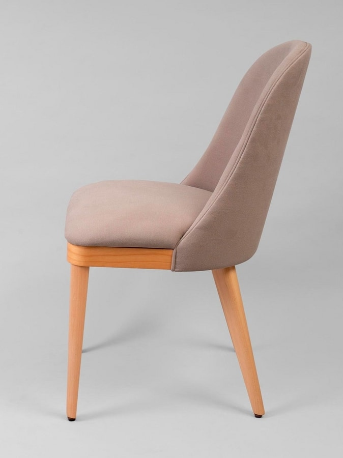 BS436S - Armchair, Upholstered fabric chair