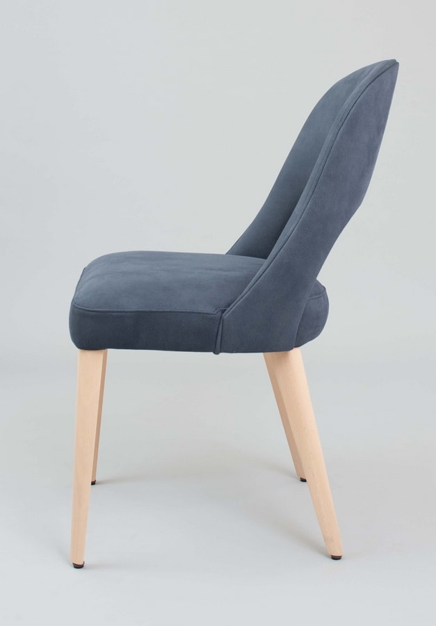 BS439S - Armchair, Upholstered chair covered in eco-leather