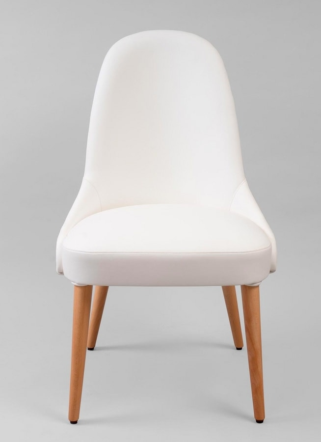 BS442S - Chair, Upholstered chair with high back