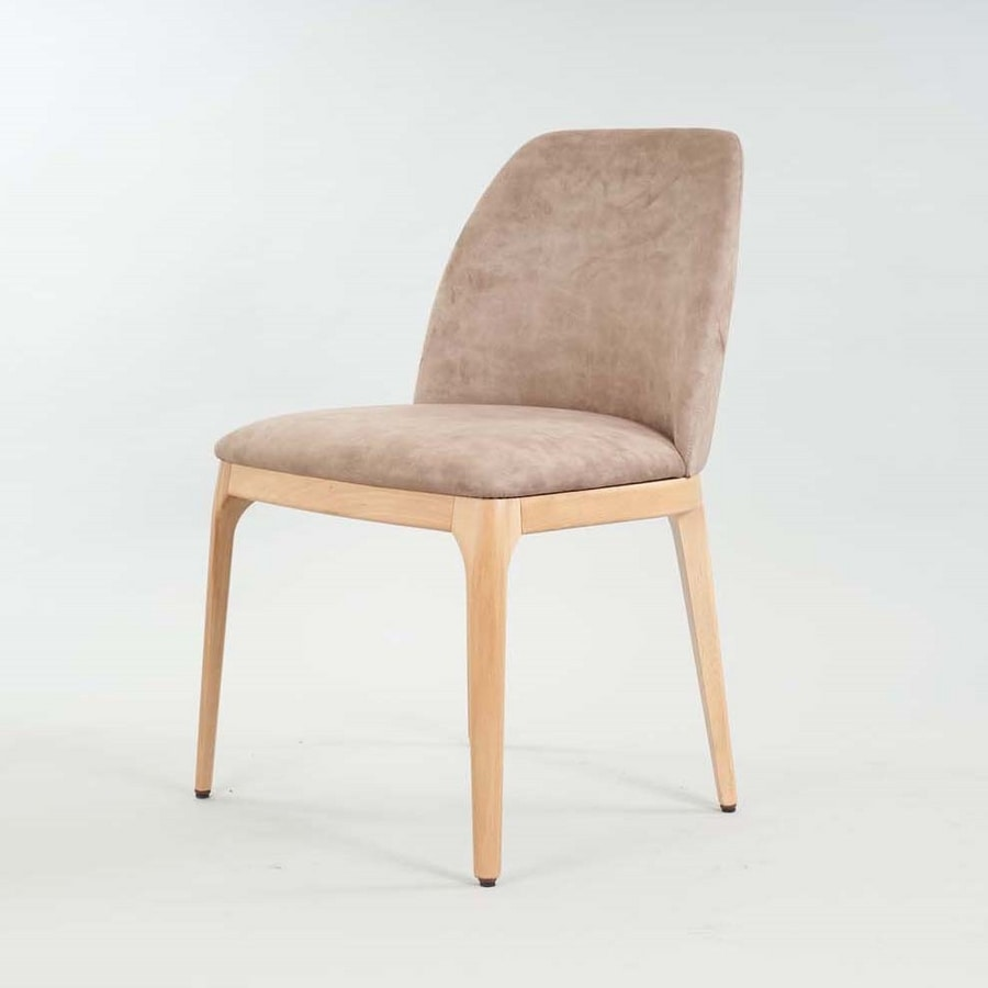 BS462S – Chair, Wooden chair with a contemporary design
