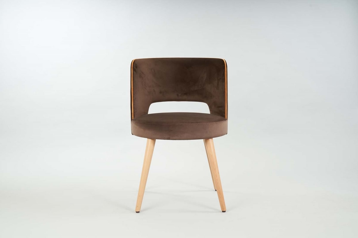 BS469A - Chair, Chair with rounded back