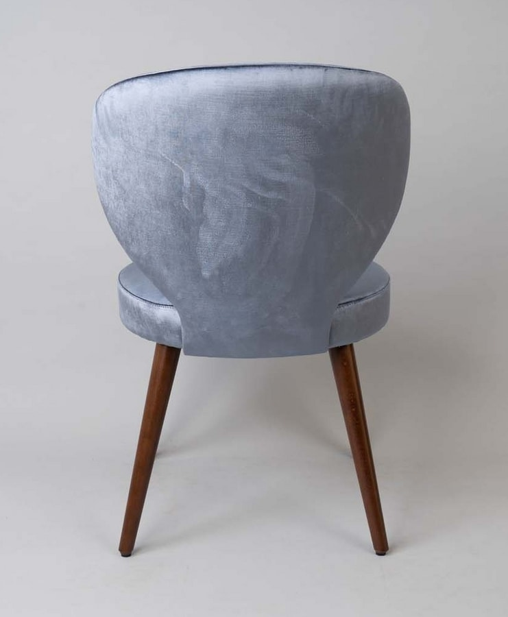 BS477A - Chair, Upholstered chair with upholstered back