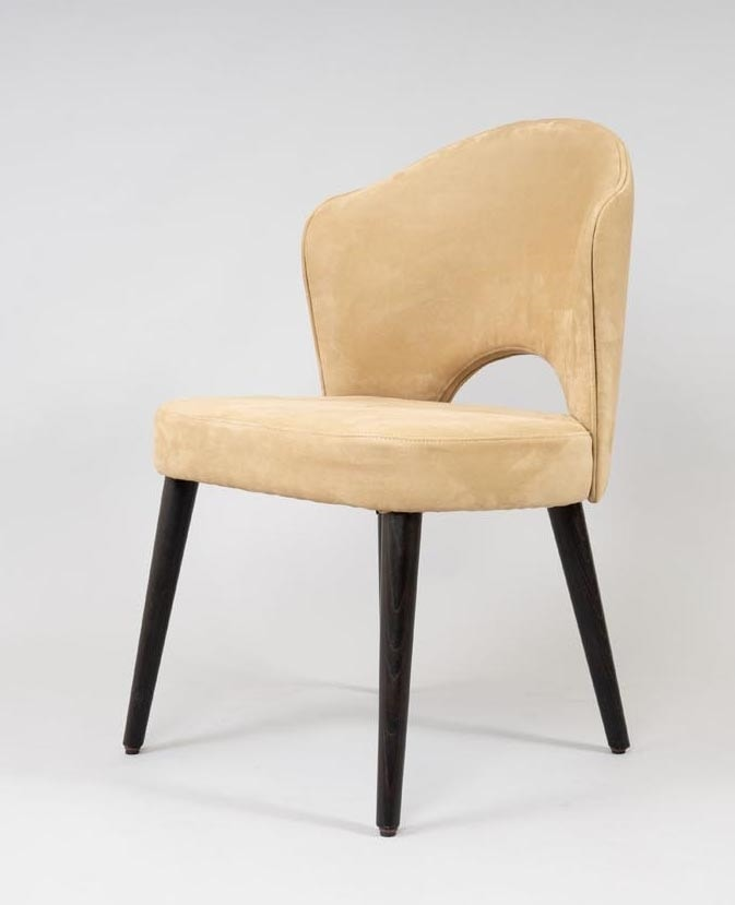 BS490S - Chair, Chair with eco nabuk upholstery
