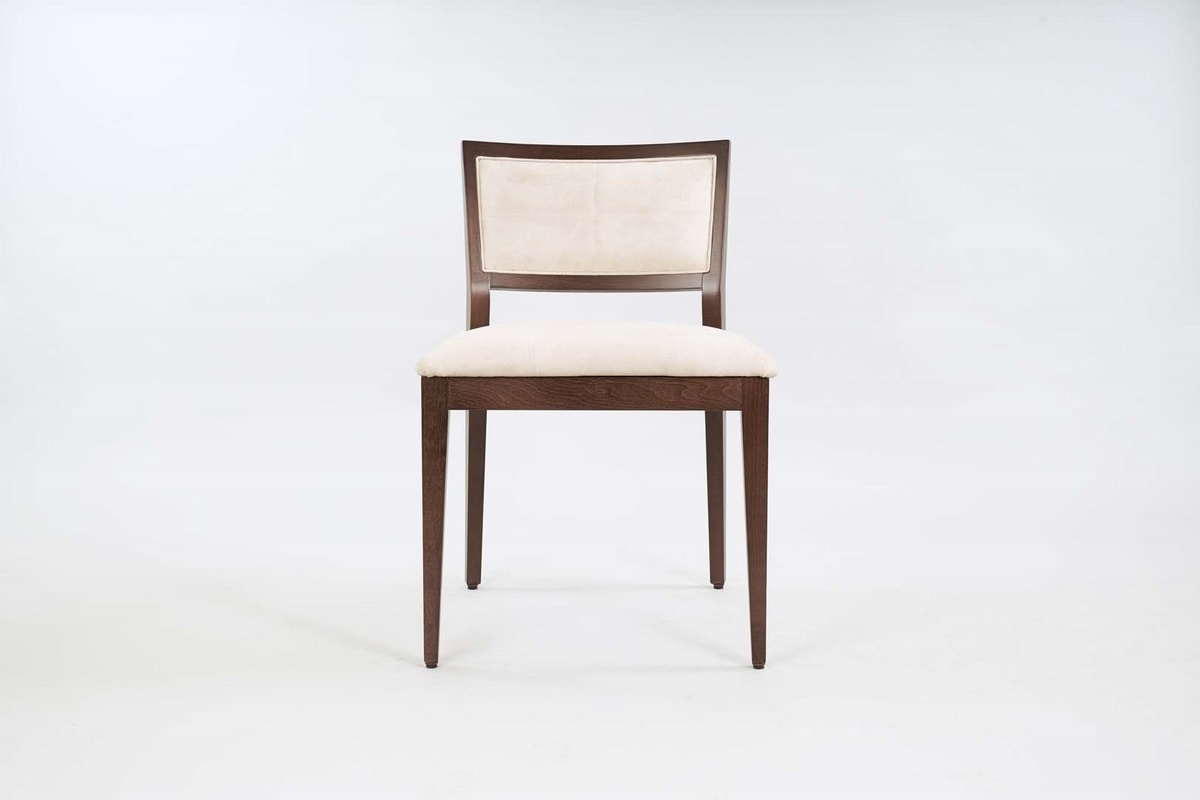 BS513S – Chair, Padded wooden chair