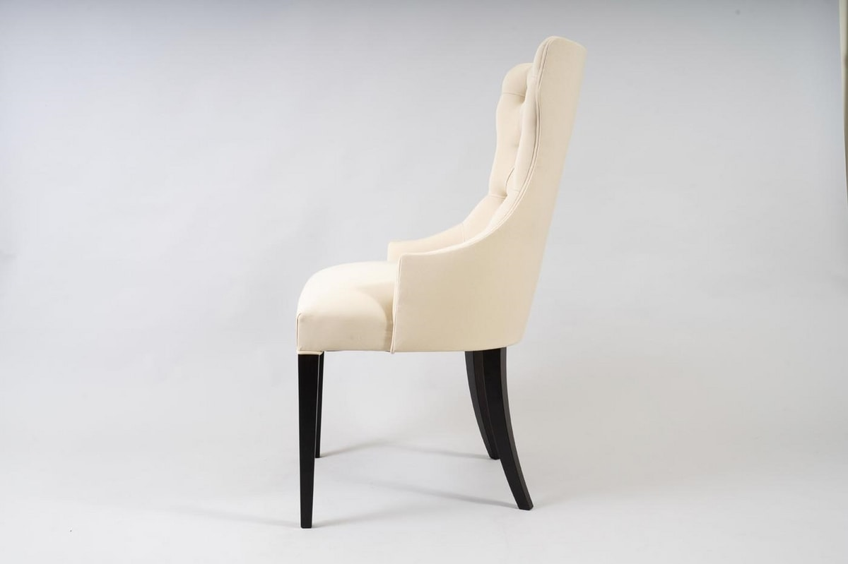 BS530A - Chair, Chair with capitonné backrest