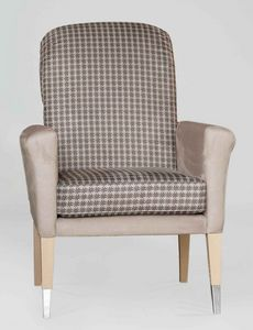BS606A - Chair, Upholstered chair with armrests
