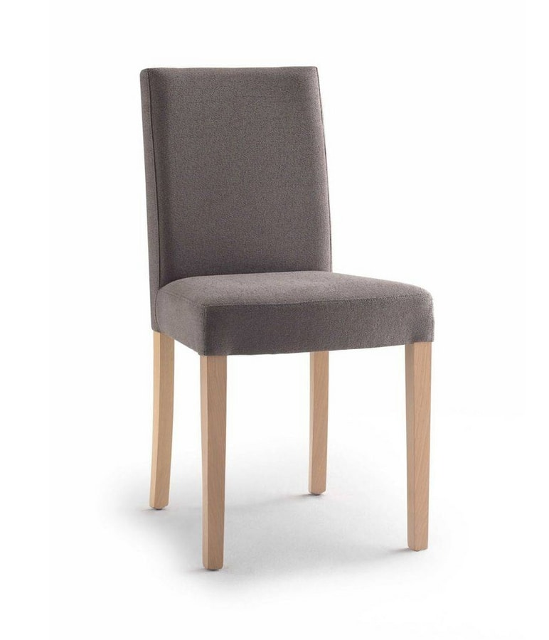 C03B, Padded chair, wooden legs