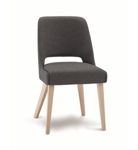 C65, Padded chair with wooden legs