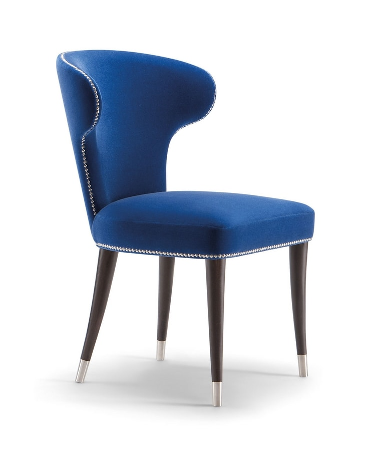 CAMELIA SIDE CHAIR 051 S, Chair with rounded back