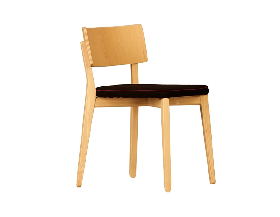 Camilla 5109/F, Wooden chair with padded seat