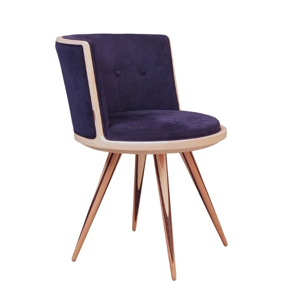 Carambola 5197/F, Chair with rounded shapes