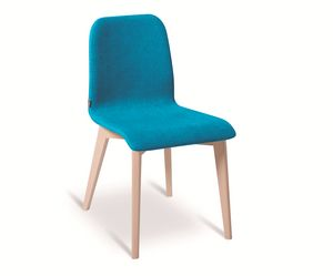 Ciao-W, Chair with wooden legs
