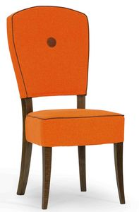 Corella, Padded chair with wooden frame