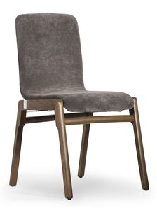 Cornelia, Chair with upholstered shell