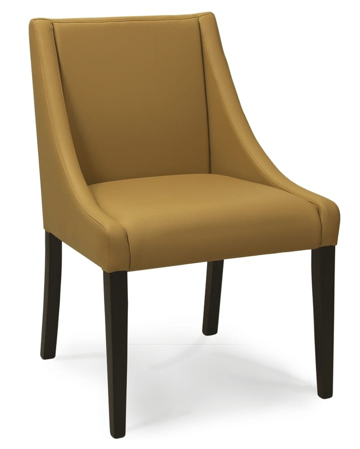 CORSICA S, Upholstered chair with low armrests