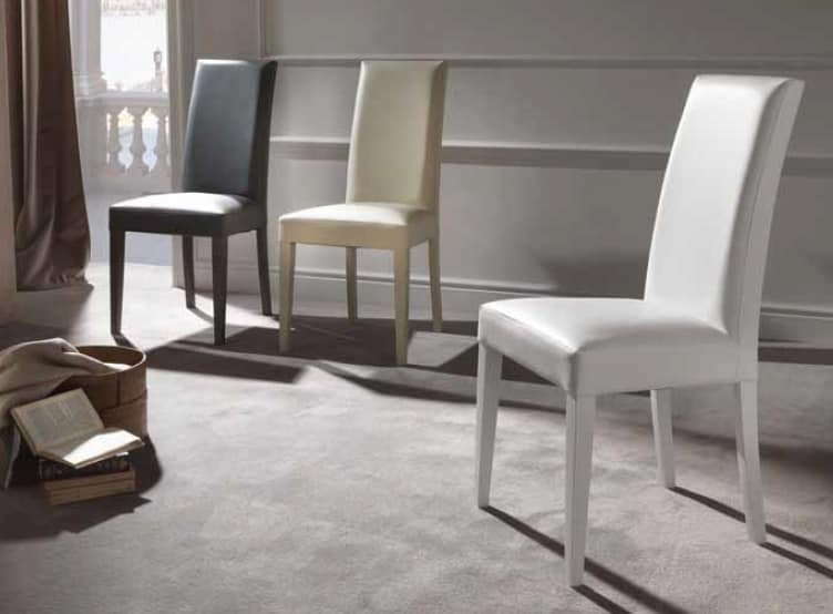 Cream, Comfortable stuffed chair for dining room