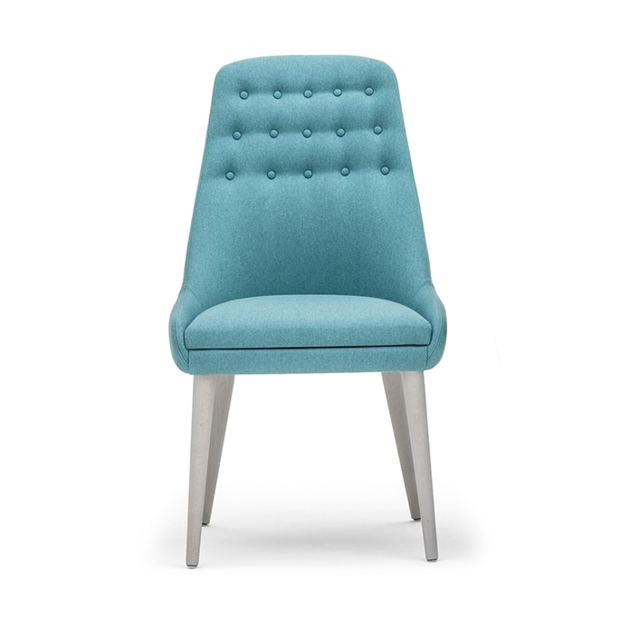 Danielle 03611K, Chair with buttoned high backrest