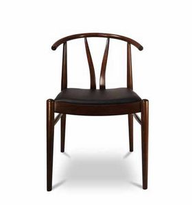 DUBLINO, Wooden chair with upholstered seat