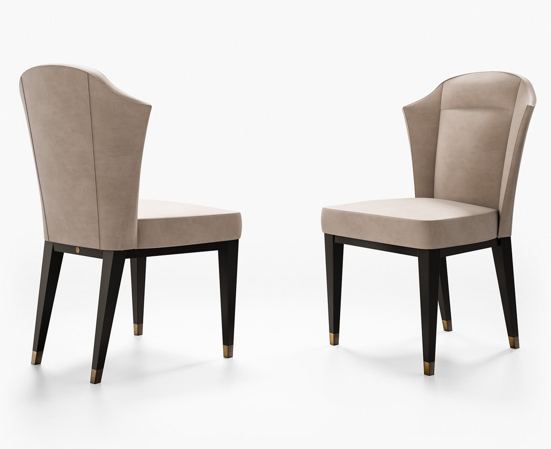 Eclipse Art. E218, Chair with leather upholstery