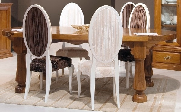 Elena 174, Classic lacquered chair, with oval back