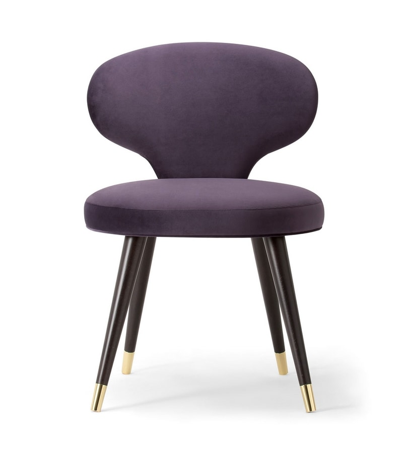 ELLE SIDE CHAIR 064 S, Chair with a particular backrest