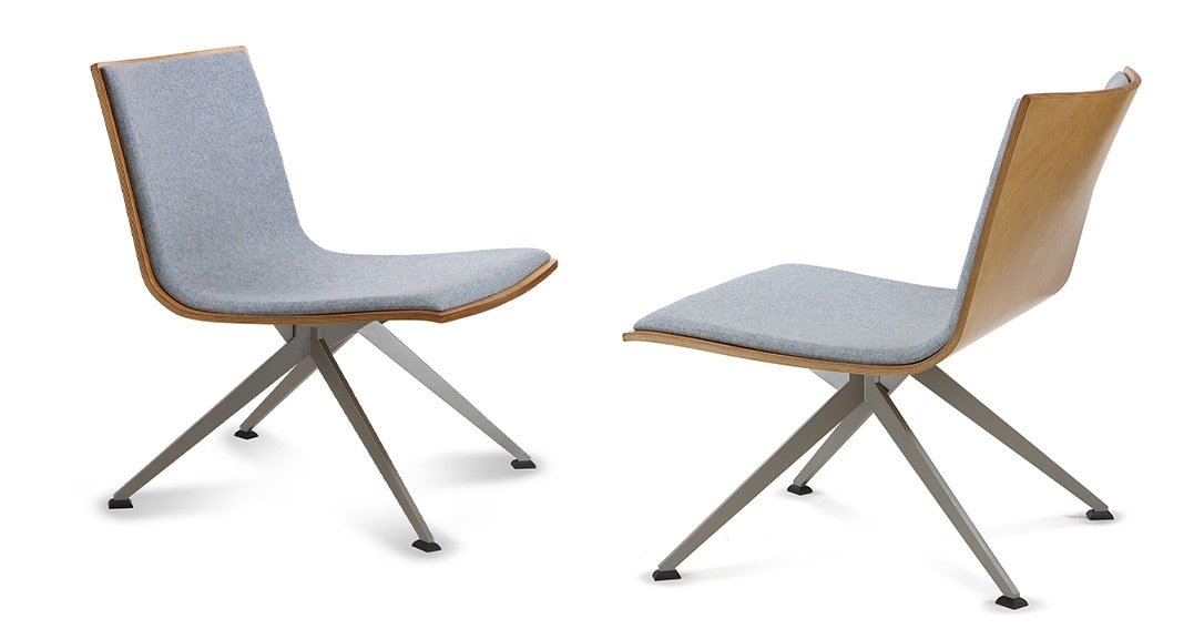 EXEN 244 Y, Partially upholstered wooden chair