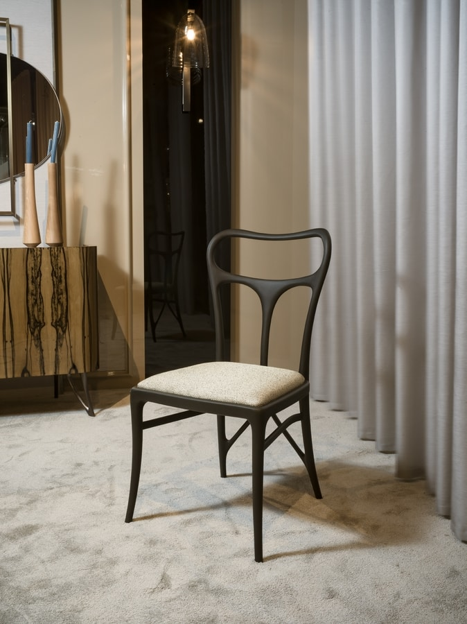 FEBE chair GEA Collection, Wooden chair, unique in shape and lightness