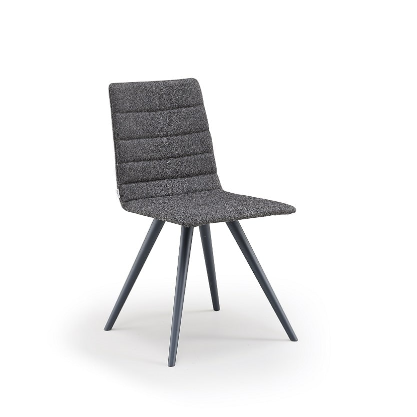 Firenze-W, Upholstered chair with wooden legs