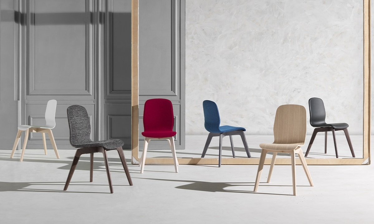 Glamour Wood Up, High comfort and elegance chair