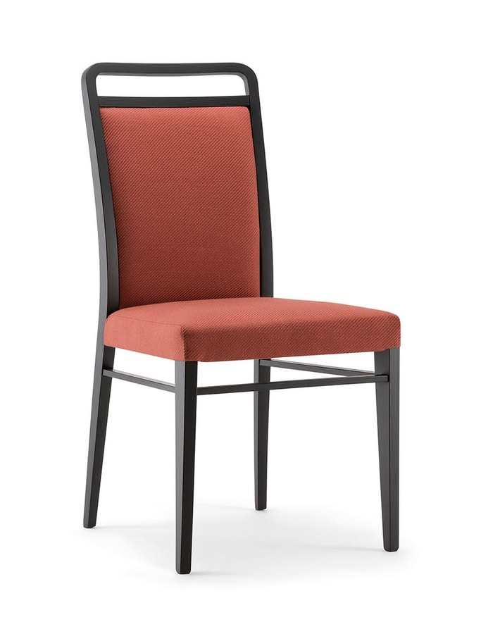 HAVANA SIDE CHAIR 020 S, Solid wood chair, upholstered
