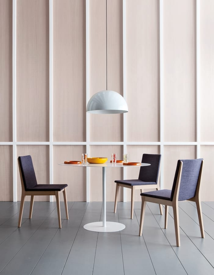 IRLANDA S, Padded wooden chair without armrests