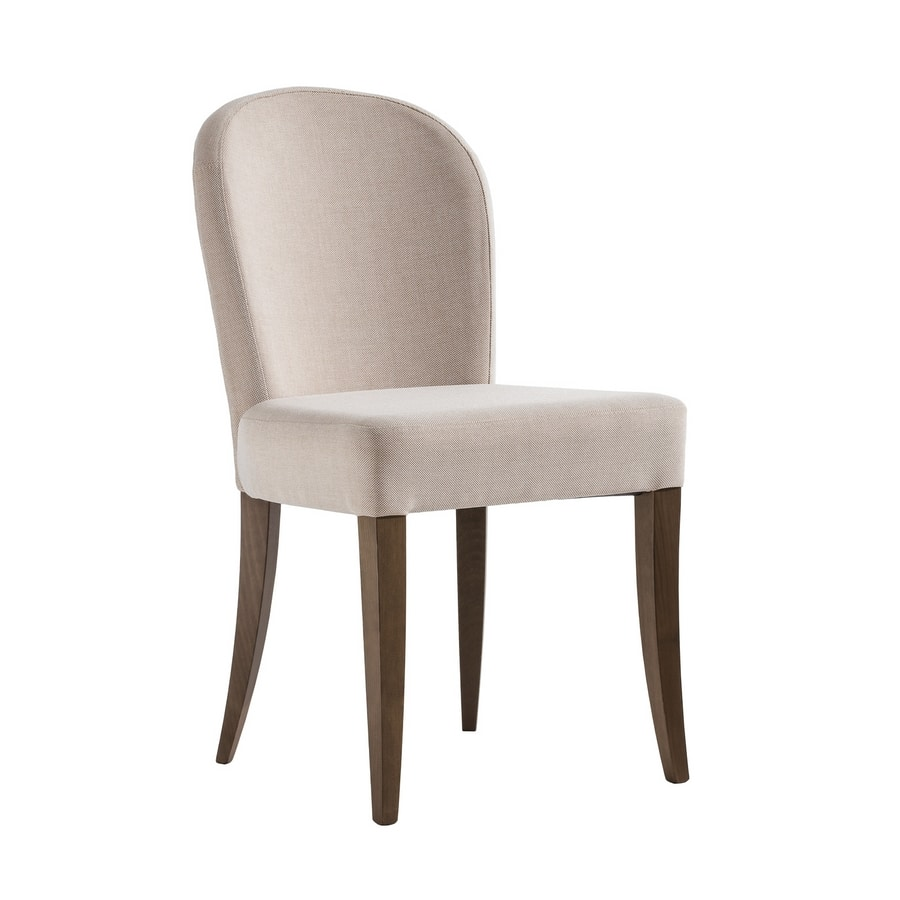 ISLANDA S, Chair with rounded shaped backrest
