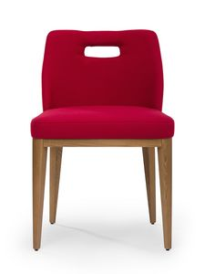 Kate hole, Wooden chair, padded, for restaurants