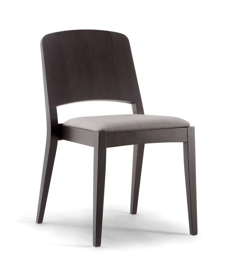 KYOTO SIDE CHAIR 047 S, Chair with graceful dynamism