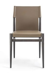 Ledermann chair 10.0600, Chair in ash wood and leather