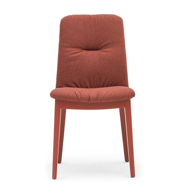 Light 03212, Wooden chair, with upholstered seat and back